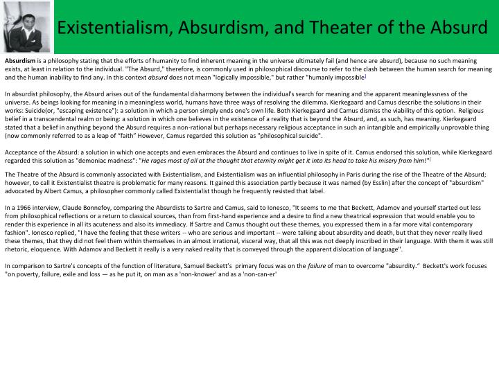 Existentialism,