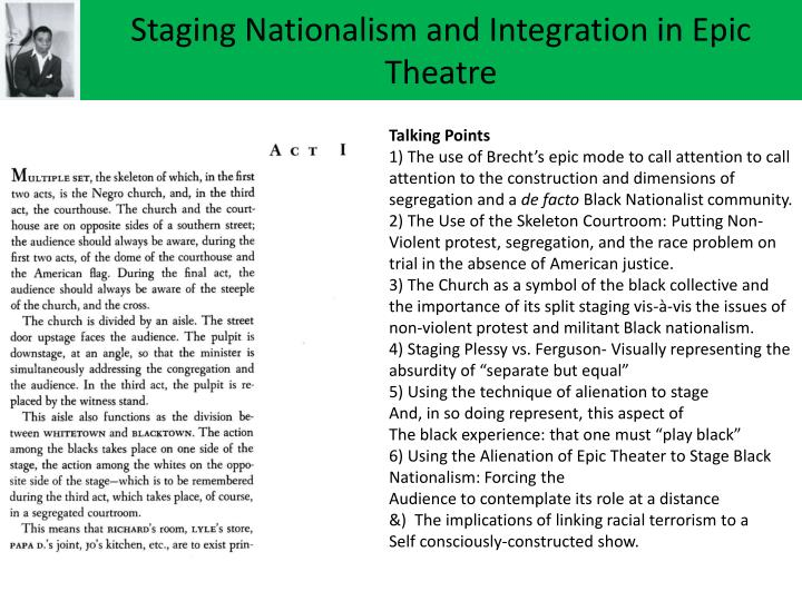 Staging Nationalism and Integration in Epic Theatre
