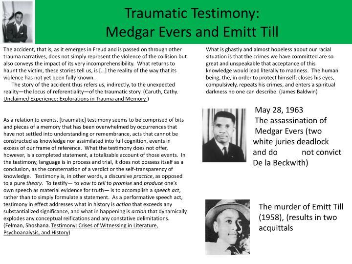 Traumatic Testimony: