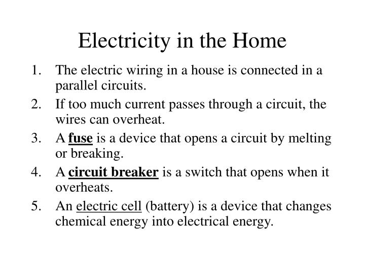 Electricity in the Home
