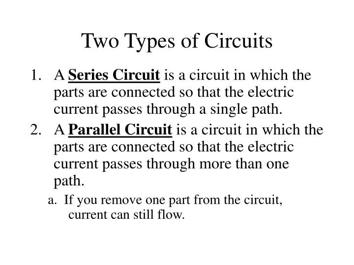 Two Types of Circuits
