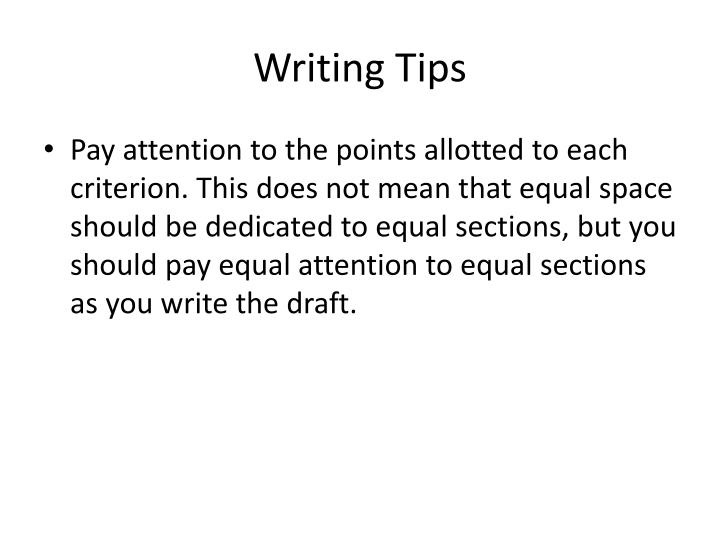 Writing Tips