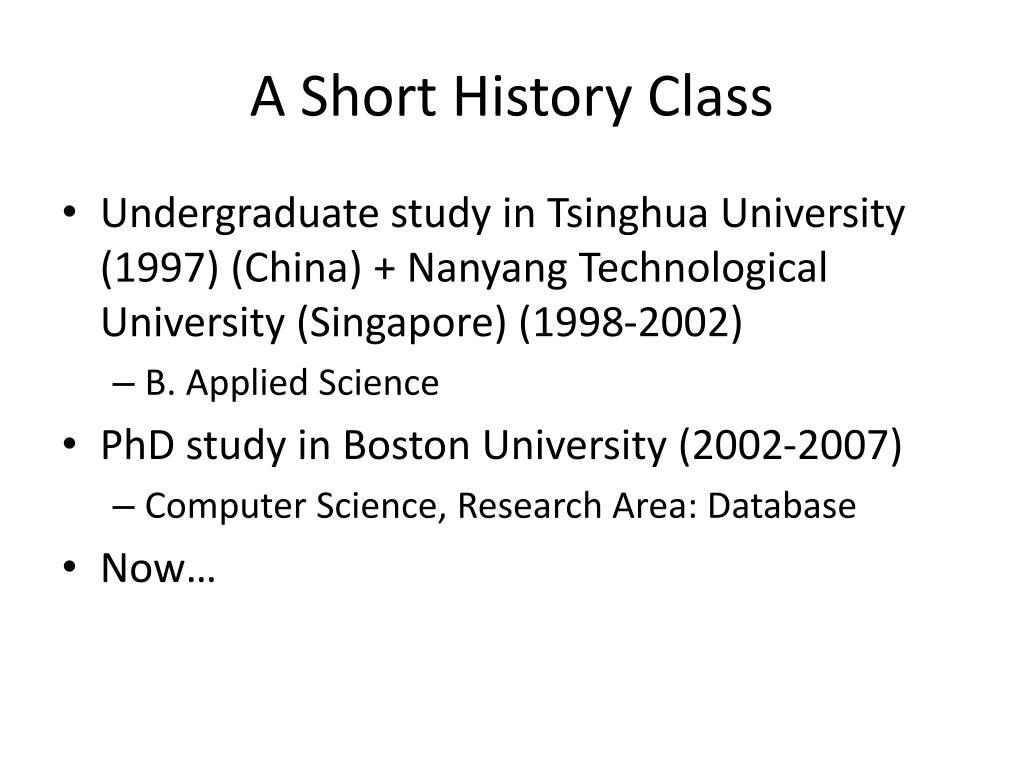 A Short History Class
