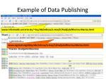example of data publishing