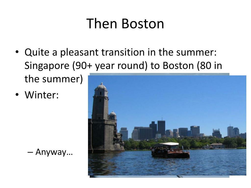 Then Boston