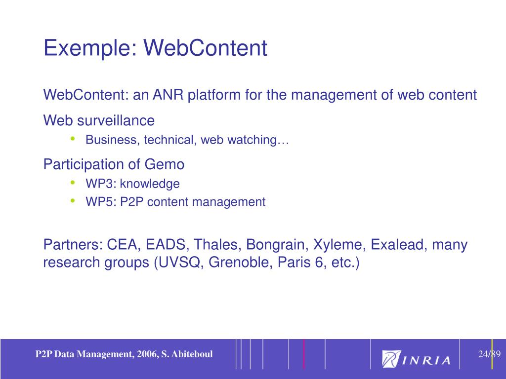 Exemple: WebContent