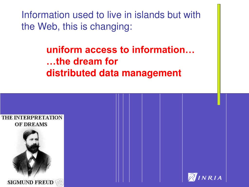 Information used to live in islands but with the Web, this is changing: