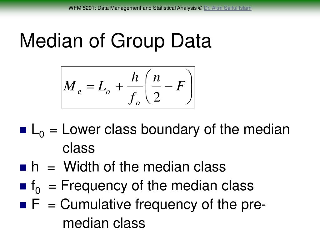 Median of Group Data