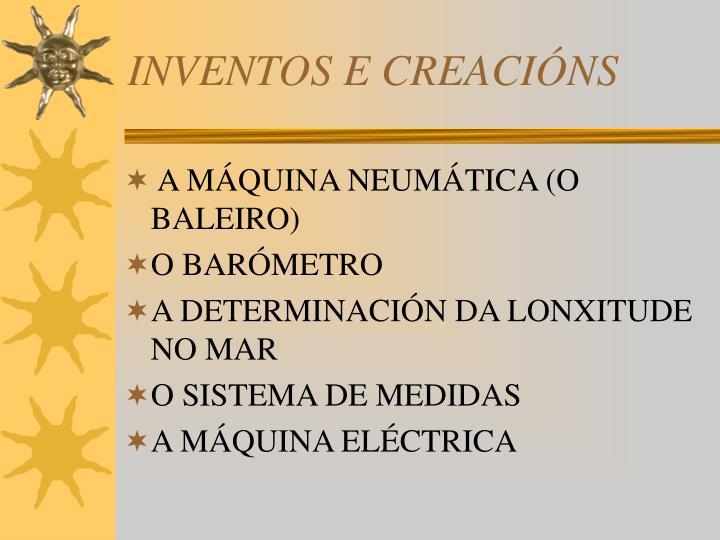 INVENTOS E CREACIÓNS