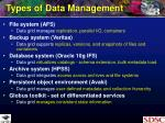 types of data management6