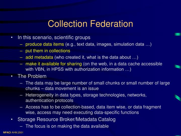 Collection federation