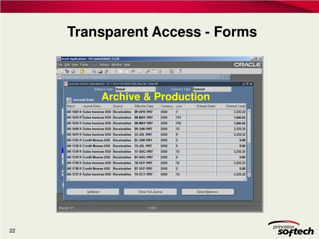 Archive & Production