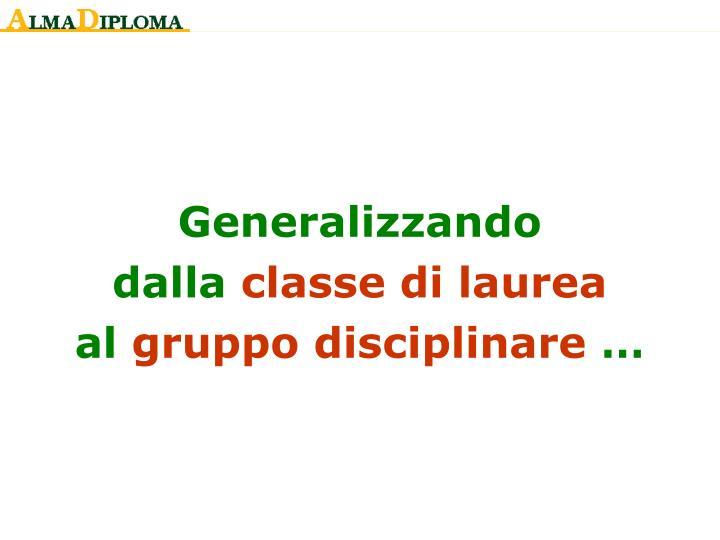 Generalizzando
