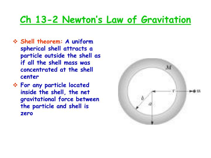 Ch 13 2 newton s law of gravitation1