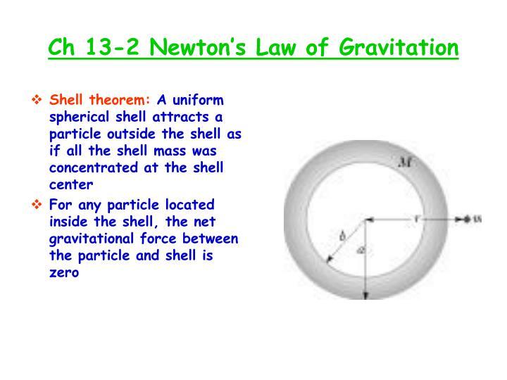 Ch 13-2 Newton's Law of Gravitation