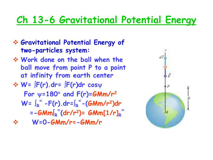 Ch 13-6 Gravitational Potential Energy