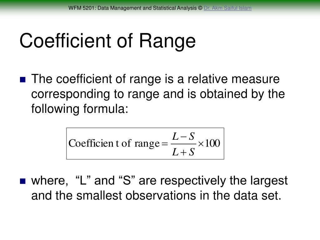 Coefficient of Range
