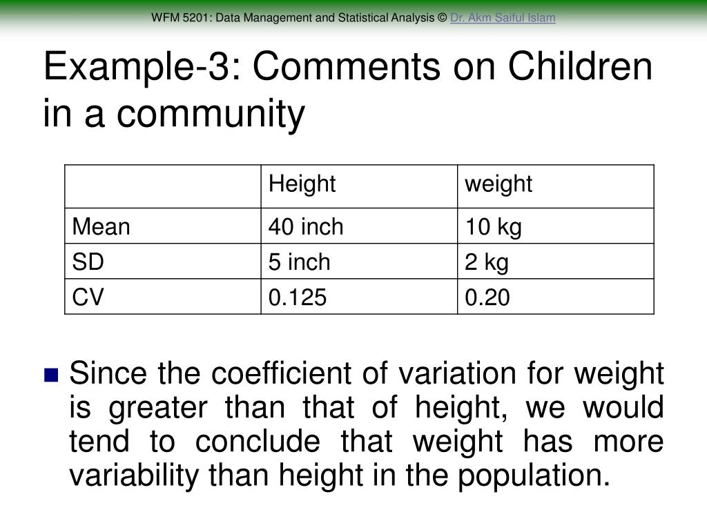 Example-3: Comments on Children in a community