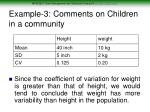 example 3 comments on children in a community