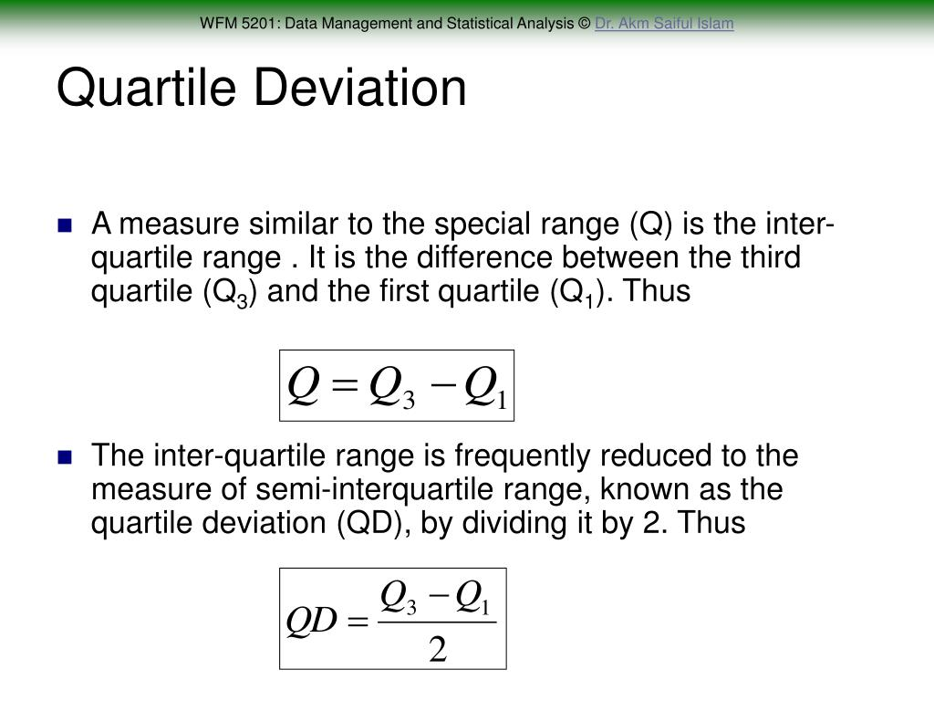 Quartile Deviation