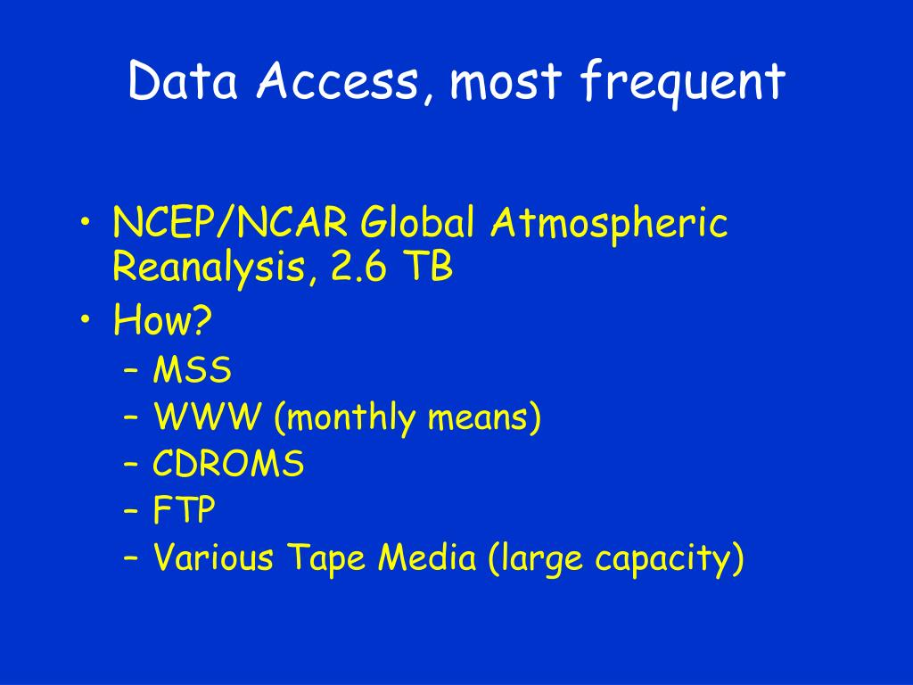 Data Access, most frequent
