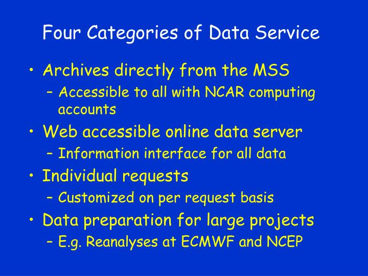 Four categories of data service l.jpg
