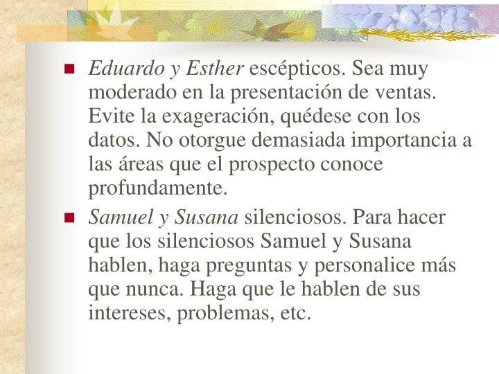 Eduardo y Esther