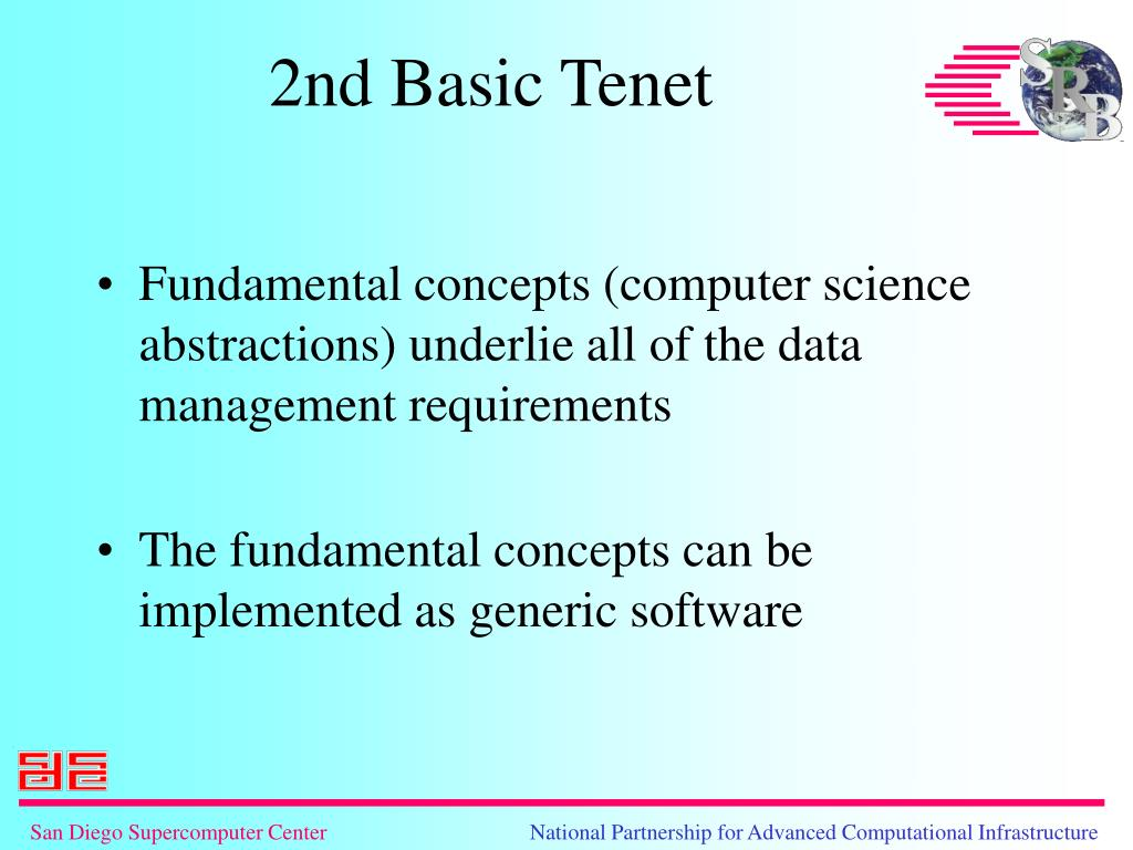 Fundamental concepts (computer science abstractions) underlie all of the data management requirements