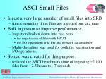asci small files