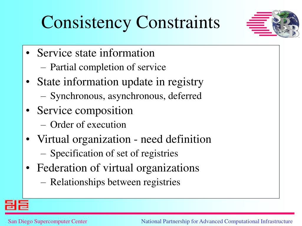 Service state information