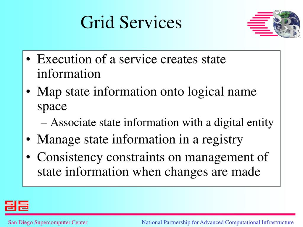 Execution of a service creates state information