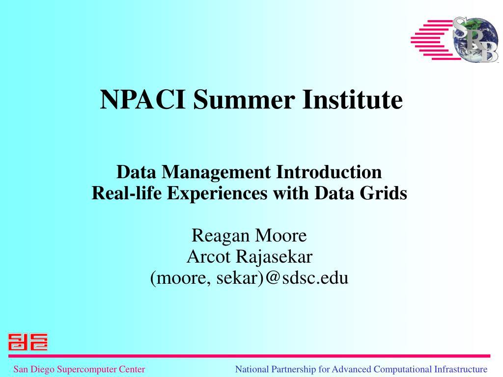 NPACI Summer Institute