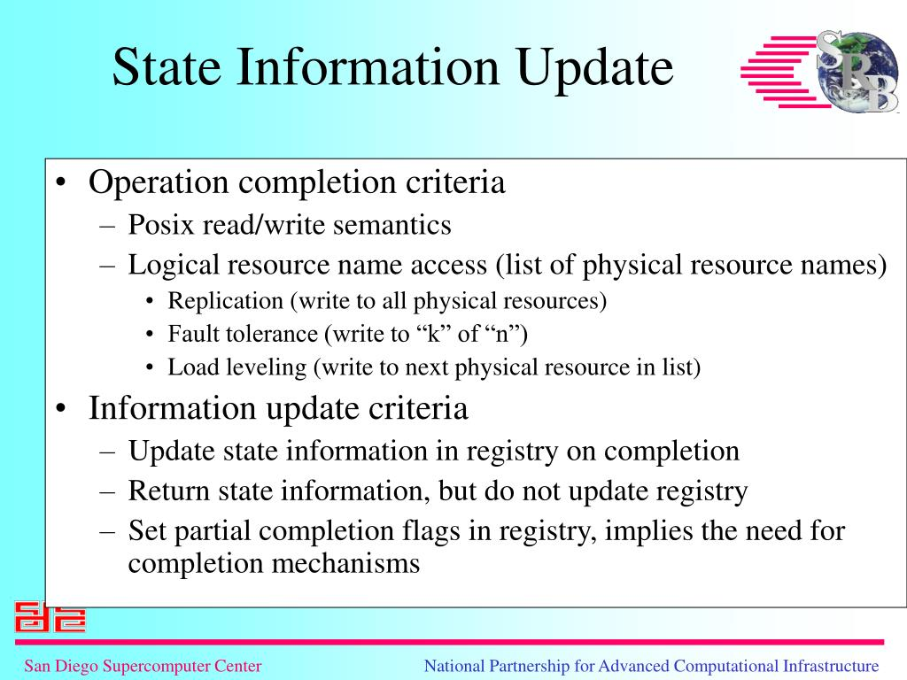 Operation completion criteria