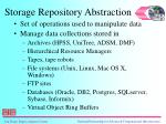 storage repository abstraction