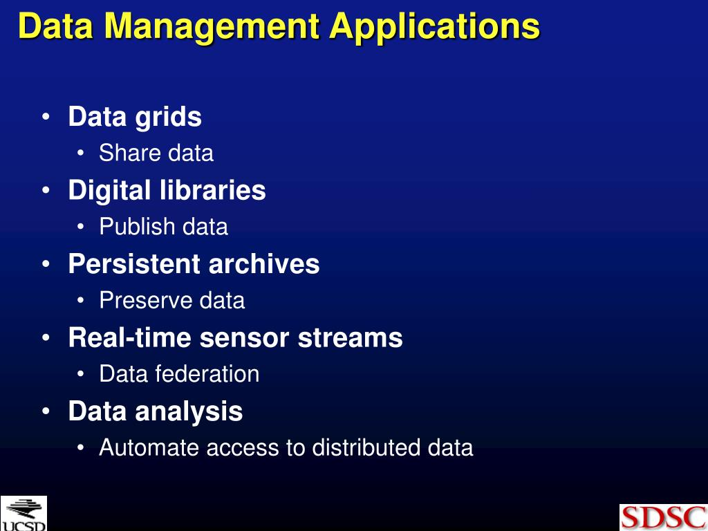Data Management Applications
