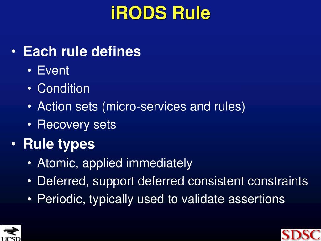 iRODS Rule