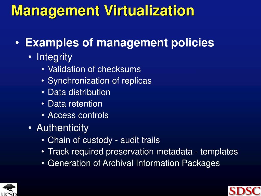 Management Virtualization