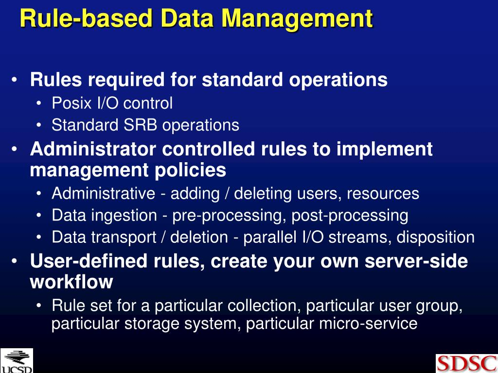Rule-based Data Management