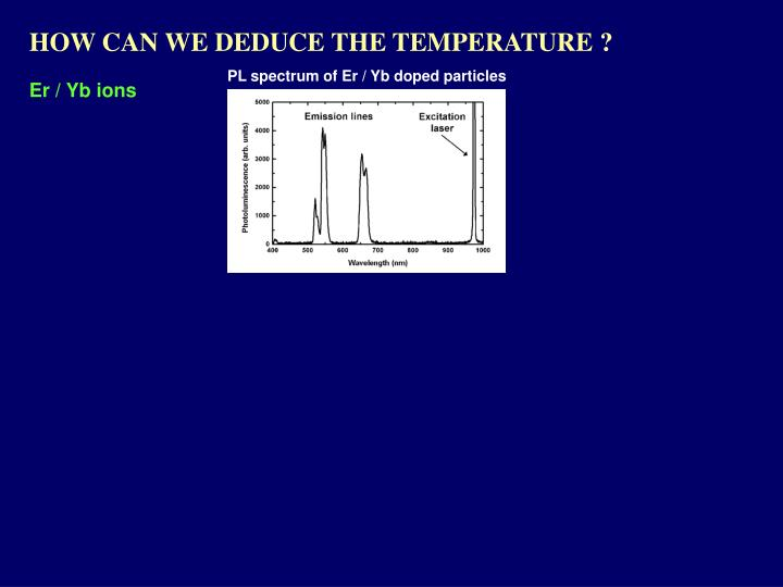 HOW CAN WE DEDUCE THE TEMPERATURE ?