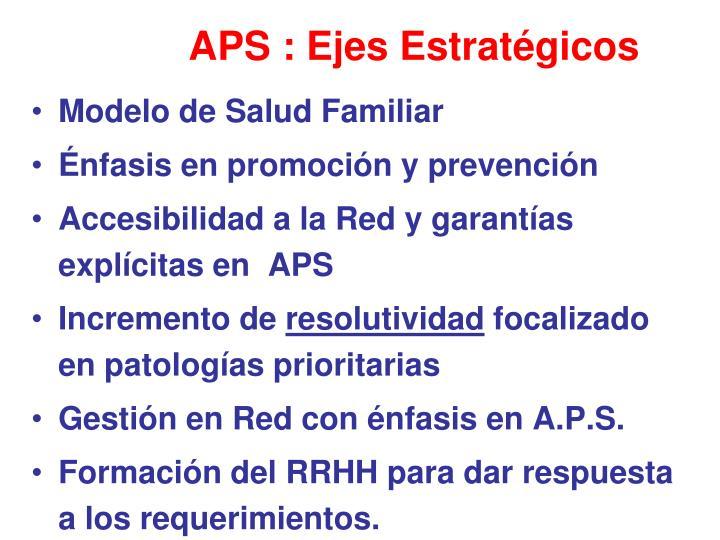 APS : Ejes Estratégicos