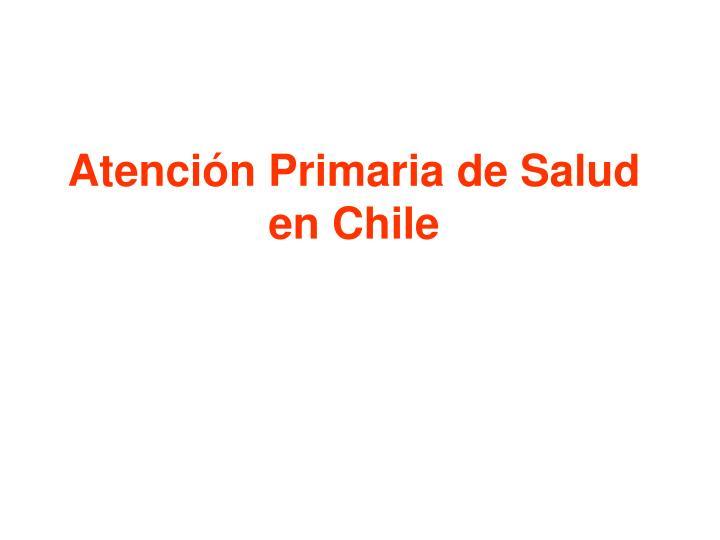 Atención Primaria de Salud en Chile