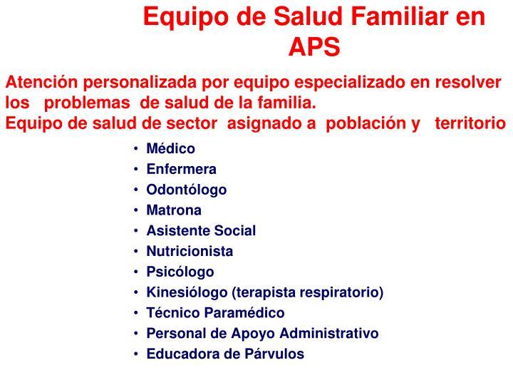 Equipo de Salud Familiar en APS