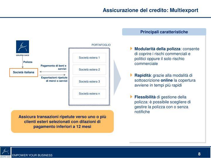 Assicurazione del credito: Multiexport