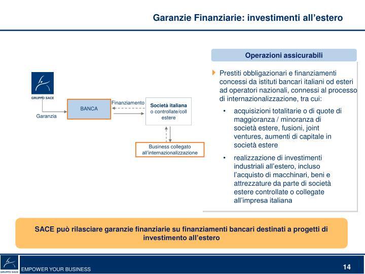 Garanzie Finanziarie: investimenti all'estero