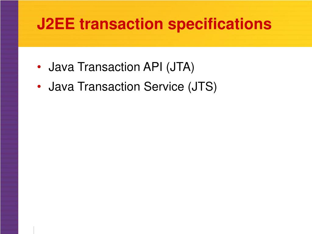 J2EE transaction specifications