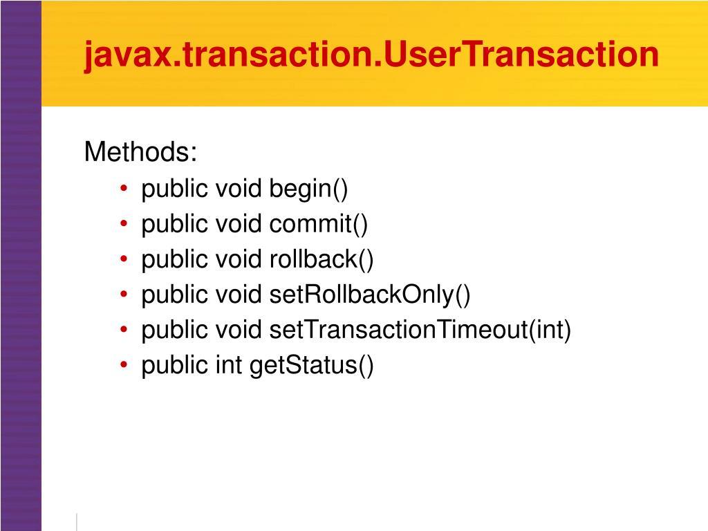 javax.transaction.UserTransaction