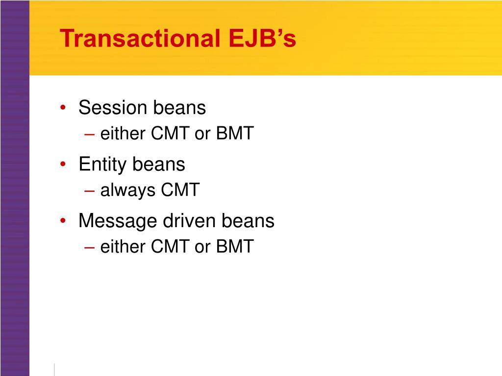 Transactional EJB's