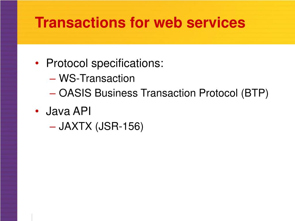 Transactions for web services