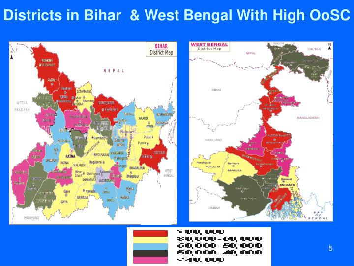 Districts in Bihar  & West Bengal With High OoSC