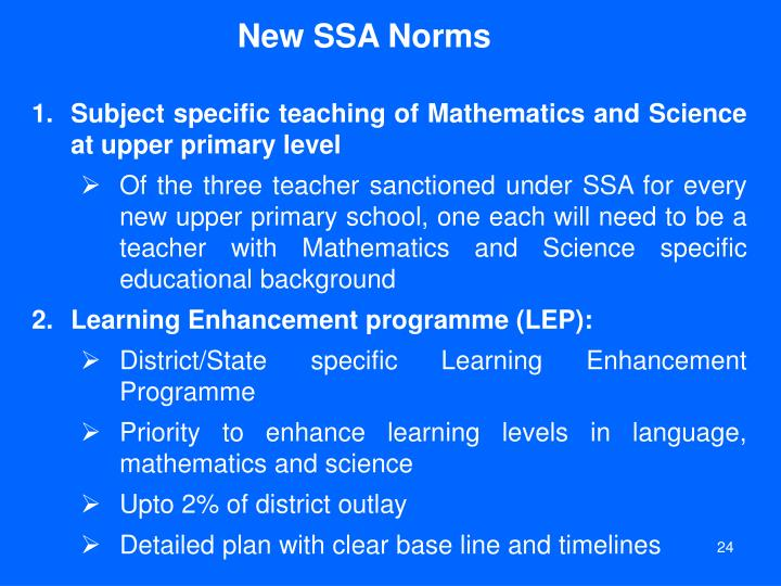 New SSA Norms